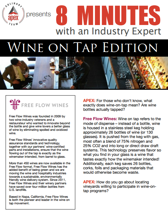 8 Minutes with an Industry Expert: Wine on Tap
